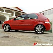 Rodas Aro 15 Punto Sporting +pneus Uno Palio Siena Strada