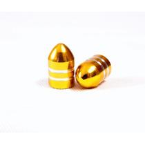 Bico Pino De Valvula Alumínio Anodizado Dourado (par 2 Uni)