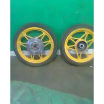 Rodas - Dianteira E Traseira Sem Pneus Da Cb400-450