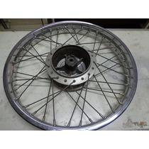 Roda Dianteir Da Cg 125 Com Rolamentos Original Em Bom Est.