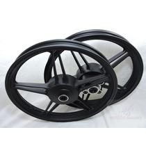 Roda Magna Scud Fan125 2000 A 2008 Ks/es Preta Freio A Lona