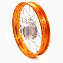 Roda Moto Colorida Titan 150 Traseira Dourado Larga 18x2.15
