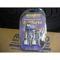 Kit Parafuso Antifurto Cromado P/ Roda Fiat Bravo - Rodafuso