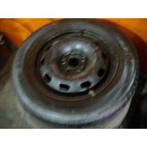 Estepe Aro 15 Fox,polo ,5x100 Roda +pneu Meia Vida