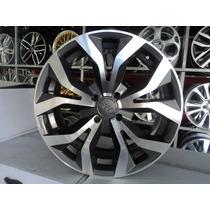04 Rodas Audi Rs6 Aro 17 4x108 Ford Grafite Diamantada Novas