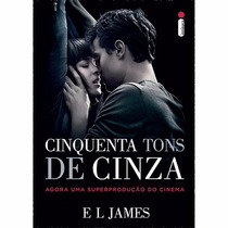 Livro Cinquenta Tons De Cinza (capa Do Filme) #