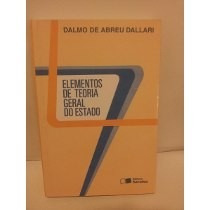 Livro Elementos De Teoria Geral Do Estado Reliquiaja