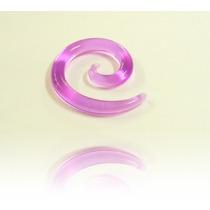 Alargador 3mm Espiral Chifre, Roxo, Acrílico