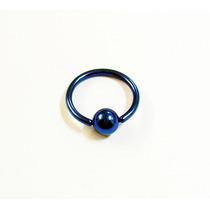 Piercing Captive 17mm, Aço Cirurgico Azul Cód 9520