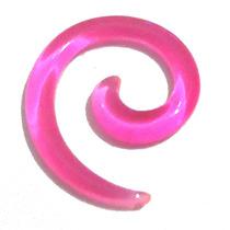Piercing Alargador 3mm Rosa Espiral