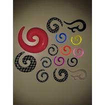 Alargadores Espiral Vários Tamanhos E Cores 2 Unidades