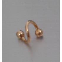 Piercing Orelha Cartilagem Twister Folheado A Ouro
