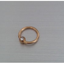 Piercing Argola / Captive Fl Ouro E Strass