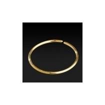 Piercing Argola Nariz Orelha Em Ouro 18k Amarelo Ou Branco