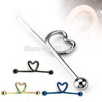Piercing Transversal Coração Aço Cirúrgico Envio Imediato