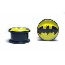 Alargador Orelha Plug Batman 10mm Herois Acrílico Marvel