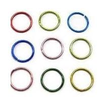 Piercing De Nariz Kit Com 6 - Argola - Nostril Aço Cirúrgico