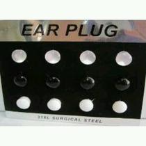 Ear Plug Alargadas Vazado Ou Fechado 12 Unidades Do 12 A 24