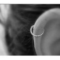 Piercing Argola Orelha Helix Prata Cartilagem Falso Septo