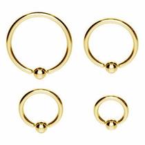 Piercing De Titânio Captive Preto Ou Dourado 6, 8, 10 E 12mm