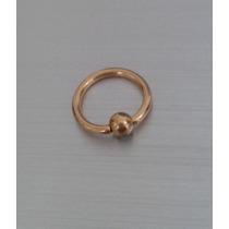 Piercing Argola Aço Inox - Nariz / Captive Folheado A Ouro