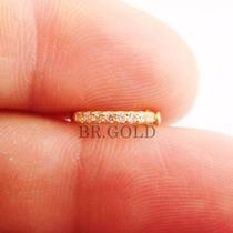 Piercing Jóia De Ouro 18k Argola De Orelha Cartilagem Helix
