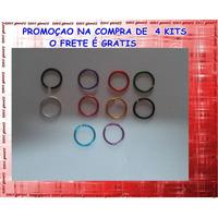 Kit 20 Piercing Argola Aço Nariz Boca Envio Imediato