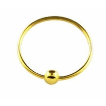 Piercing Argola Nariz - Aço - Estilo Captive Folheado A Ouro