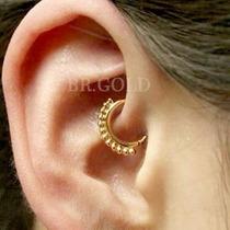 Piercing Argola Dourada De Orelha Cartilagem Helix Tragus