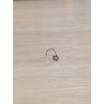 Piercing Nariz Nostril Aço Cirúrgico Estrela C/ Pedra Branco