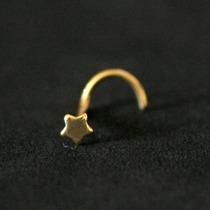 Piercing Nariz Ouro 18k Folheado Piercing Nostril Estrela 0