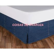 Saia Cama Box Jeans