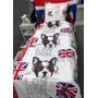 Capa Edredom Solteiro London Way-bandeira Inglesa Uk-2peças