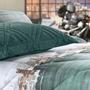 Porta Travesseiro Blend Malha - -verde Oceano Altenburg