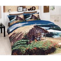 3d Delux Cetim Relax Jogo De (lençol) Cama Casal Duvet Cove