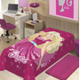 Manta Infantil De Microfibra Barbie Star Super Macia - Jolit