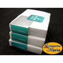 Pacote 12 Lençóis C/ Elástico Casal Santista Prata Branco