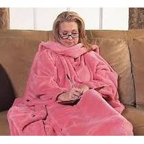 Cobertor Com Mangas/ Bolsos P/ As Mãos/opcional Bolso P/ Pés