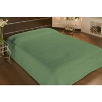 Cobertor De Microfibra Queen Antialergico Liso Verde -camesa