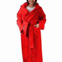 Cobertor Com Manga, Bolso E Cinta 4 Em 1 - Adulto - Vermelho