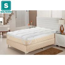 Pillow Top Solteiro Enchimento De Fibra Siliconizada Plumasu