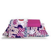 Jogo De Cama Solteiro 90x190x30 Cm Disney Minnie Confetti -