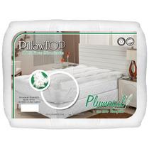 Pillow Top Queen Enchimento De Fibra Siliconizada - Plumasul