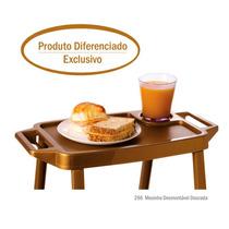 Mesa Desmontável Café Da Manhã Cama Sofá Mesa Plástica Nova