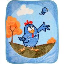 Cobertor Galinha Pintadinha Azul Raschel - Jolitex