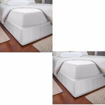 2 Saia P/ Cama Box Queen King Size Casal Protetor Ajustável