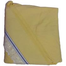 Lençol De Malha Amarelo Solteiro Enxoval Cama Mesa Banho