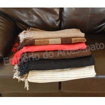 Lençol Colcha Solteiro / Manta Sofá Em Chenille 2,20 X 1,50m