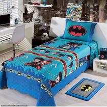 Colcha Juvenil Em Matelassê Batman C/verso Estampado