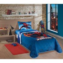 Colcha Matelassê Homem Aranha Spider Man+ Fronha Travesseiro